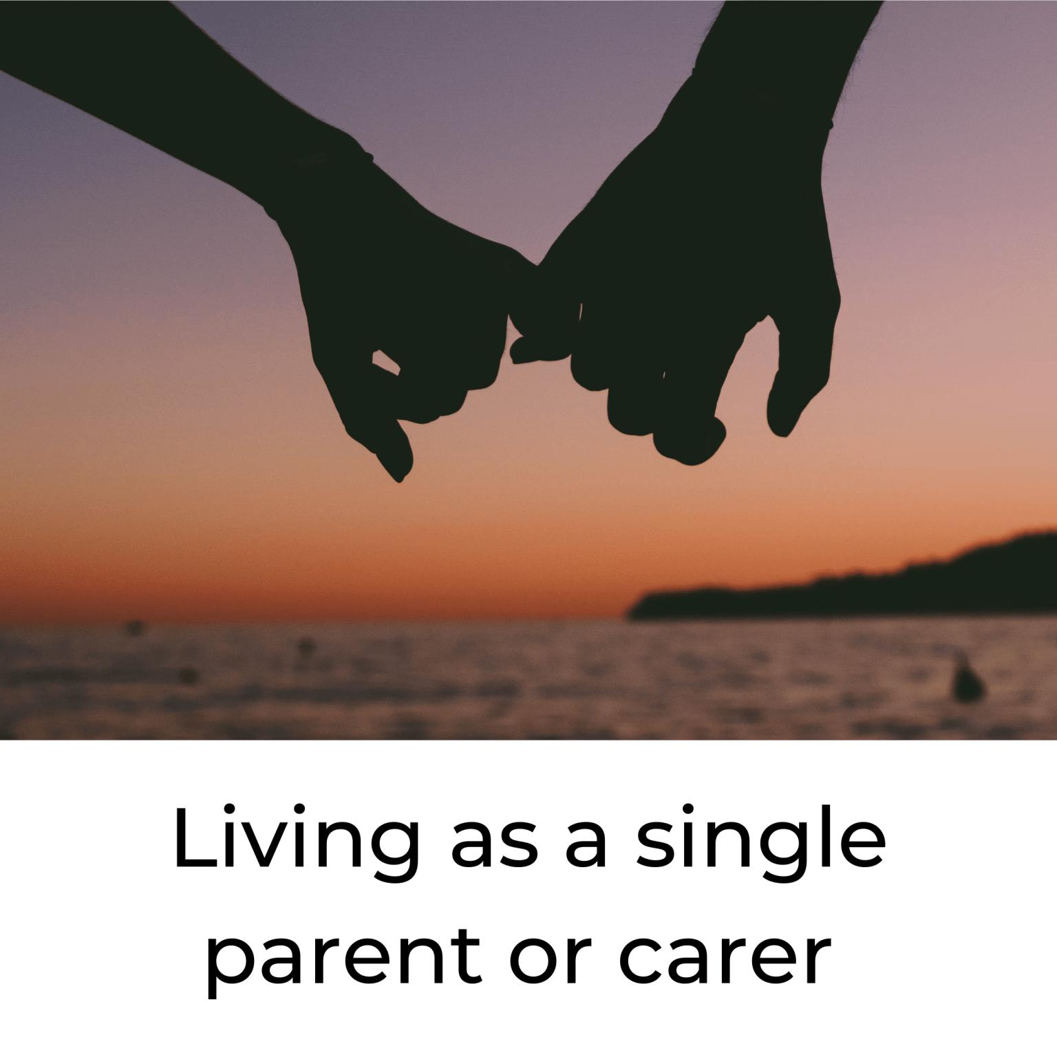 living alone as a single parent