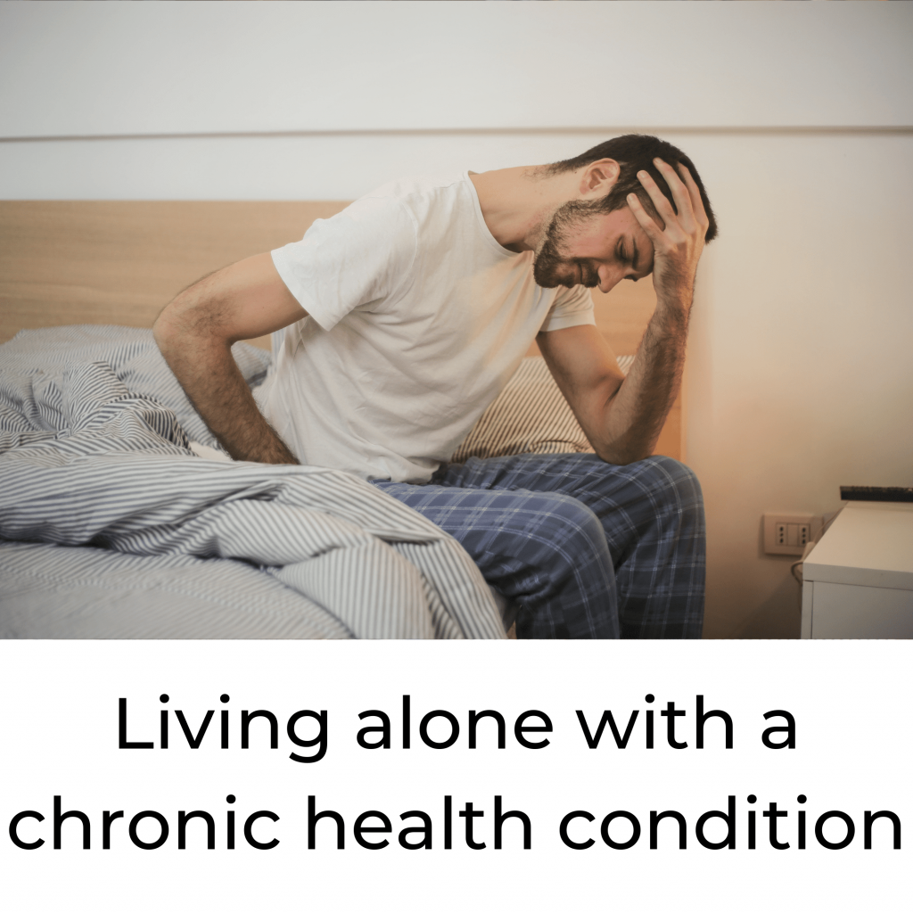 living alone with a chronic health condition