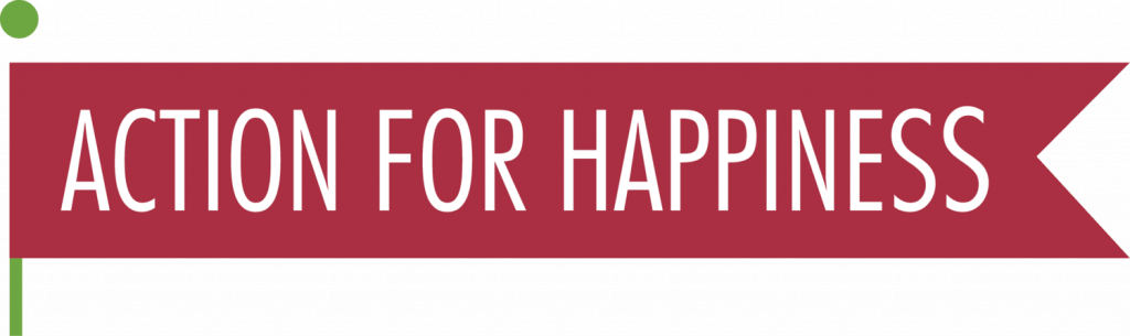 action for happiness banner for living alone website