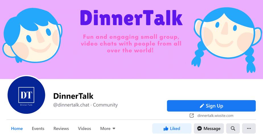 DinnerTalk image for living well alone website