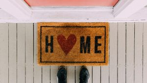 home doormat for how to live well alone blog post